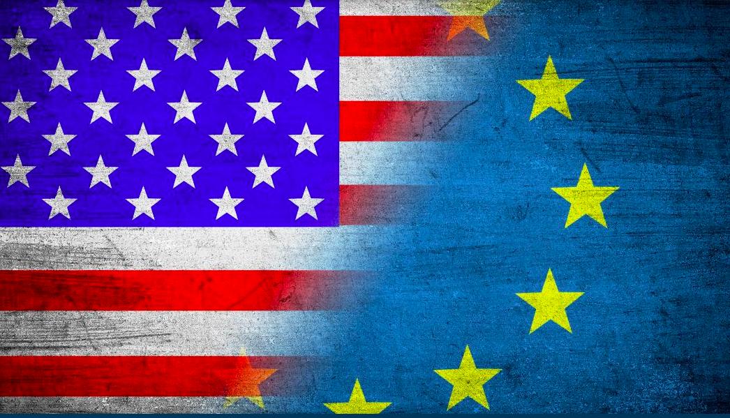 EU-USA flag